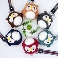 Super Cute Cartoon Mini Owl Plush Toy Lovely Creative Keychain Pendant Soft Stuffed Animal Doll bag accessory Kids Toy Girl Gift