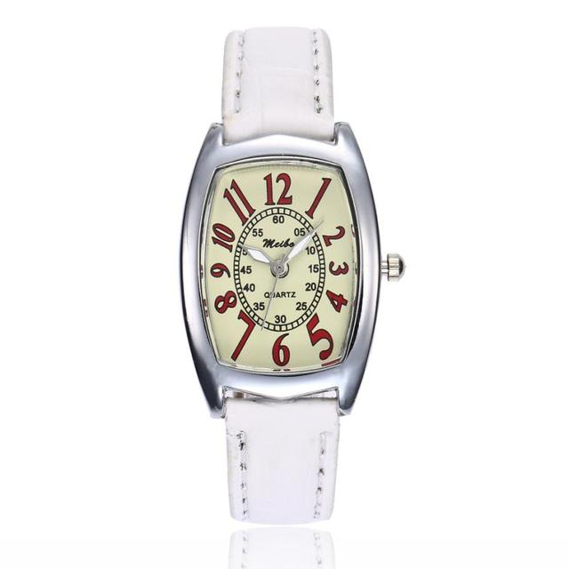 XINIU Women Dress Watches Causal PU Leather Band Analog Quartz Round Wrist Watch