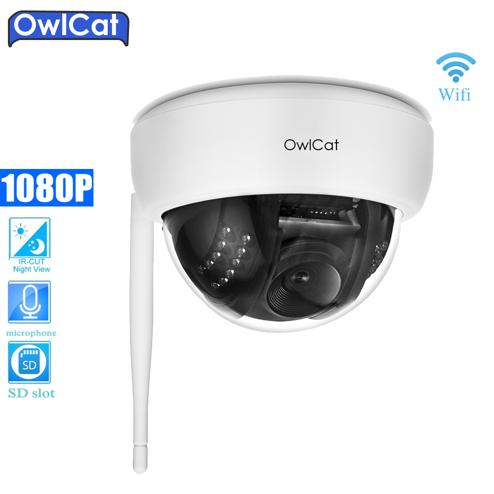 Indoor Dome HD 1080P IP Camera Wifi IR Lens 3.6mm 2MP IP CCTV Security Camera Network Audio Microphone SD Memory Slot Onvif P2P wide view 2 8mm hd ip camera 1080p indoor dome cam ir lens 2mp ip cctv security camera network onvif p2p android iphone xmeye