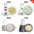 4 pcs GU10 4 W 5 W 6 W 7 W DIODO EMISSOR de Luz Lâmpada de vidro de alumínio luz do ponto de poupança de Energia AC 220 V Branco Quente Branco Fresco LEVOU lâmpada