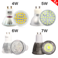 4pcs GU10 4W 5W 6W 7W LED Light Bulb glass aluminum spot light AC 220V Warm White Cool White Energy saving LED Bulb