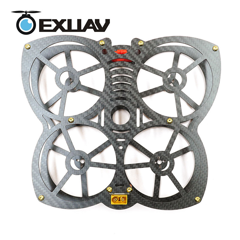 EXUAV 133 large butterfly 133mm Wheelbase 1.5mm Arm Carbon Fiber Racing Drone Frame for RC FPV Quadcopter Support Runcam camera exuav y120s 120mm wheelbase fpv racing drone y4 type design carbon fiber frame flytower racing mini f4 for diy mini rc toys 270g