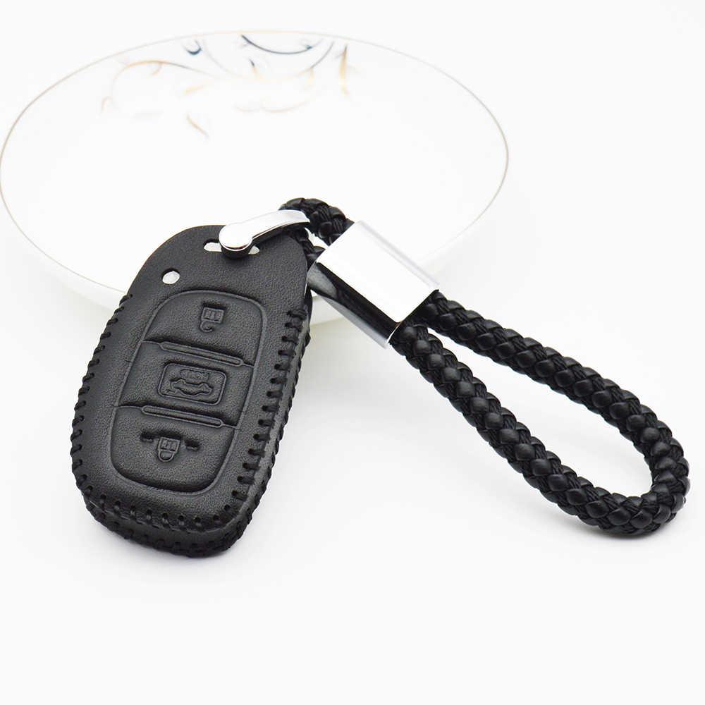 سيارة حقيبة غطاء للمفاتيح لشركة هيونداي سولاريس 2017 Creta I10 I20 I30 I40 IX25 IX35 Getz توكسون ريال حلقة مفتاح جلدية شل اكسسوارات