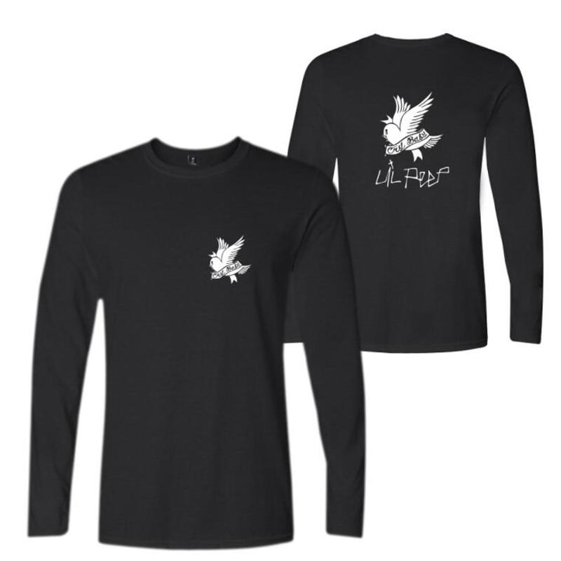 R.I.P Lil Peep Rock and Roll Men Music T Shirts Cotton Long Sleeve O-neck Tee Shirt Hip Hop Rap Men T-shirt Male Clothing 4XL