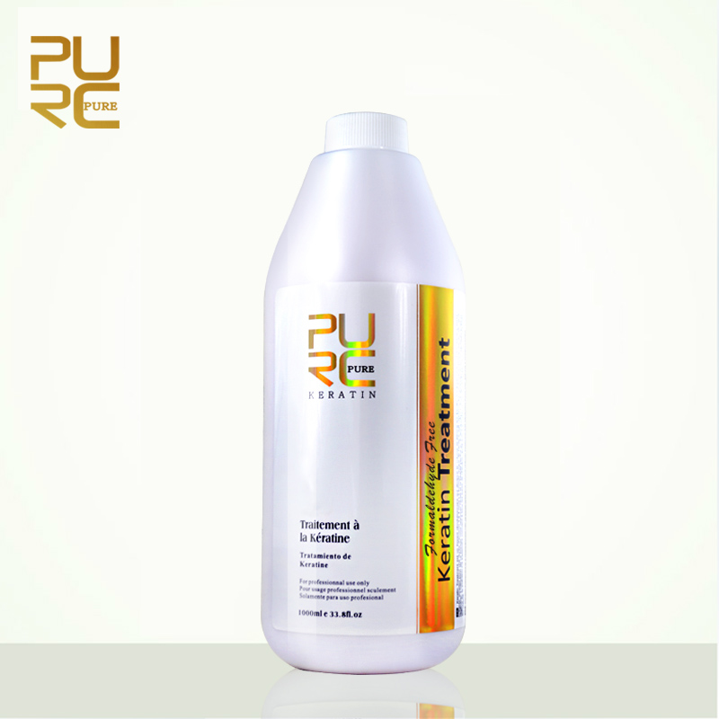 PURC Formaldehyde Free Brazilian Keratin Hair Treatment 1000ml Repair damaged hair straighten fedex free shipping PURE