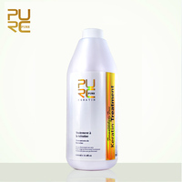 PURC Formaldehyde Free Brazilian Keratin Hair Treatment 1000ml Repair damaged hair straighten fedex free shipping PURE