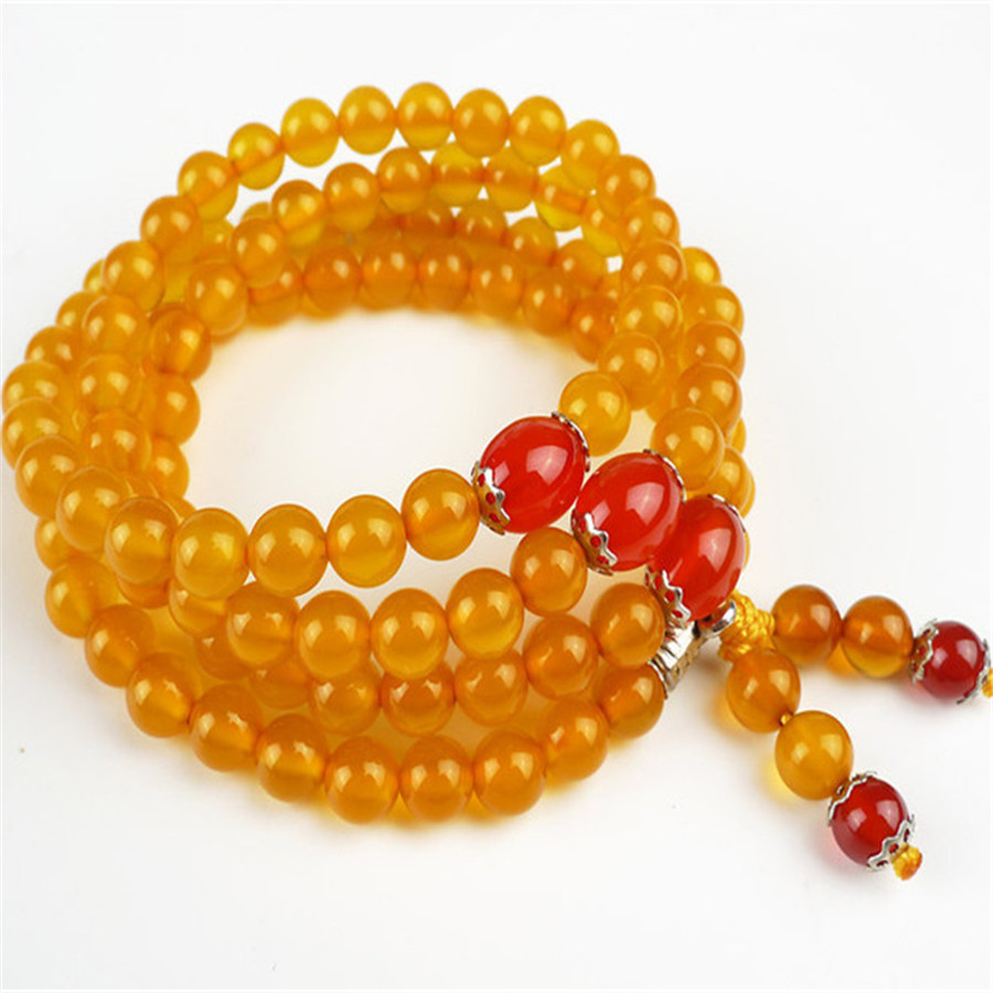 6.5mm Genuine Natural Yellow Chalcedony 108 Round Beads Jewelry Crystal Quartz Women Femme Charm DIY Stretch Charm Bracelet 6 5mm genuine natural yellow chalcedony 108 round beads jewelry crystal quartz women femme charm diy stretch charm bracelet
