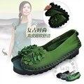 Открытый Этническая Твердые Теплые Мягкой Кожи Обувь Китай Китайский Национальный Самые Популярные Старинные Обувь Женская Плоские Обувь Против Скольжения