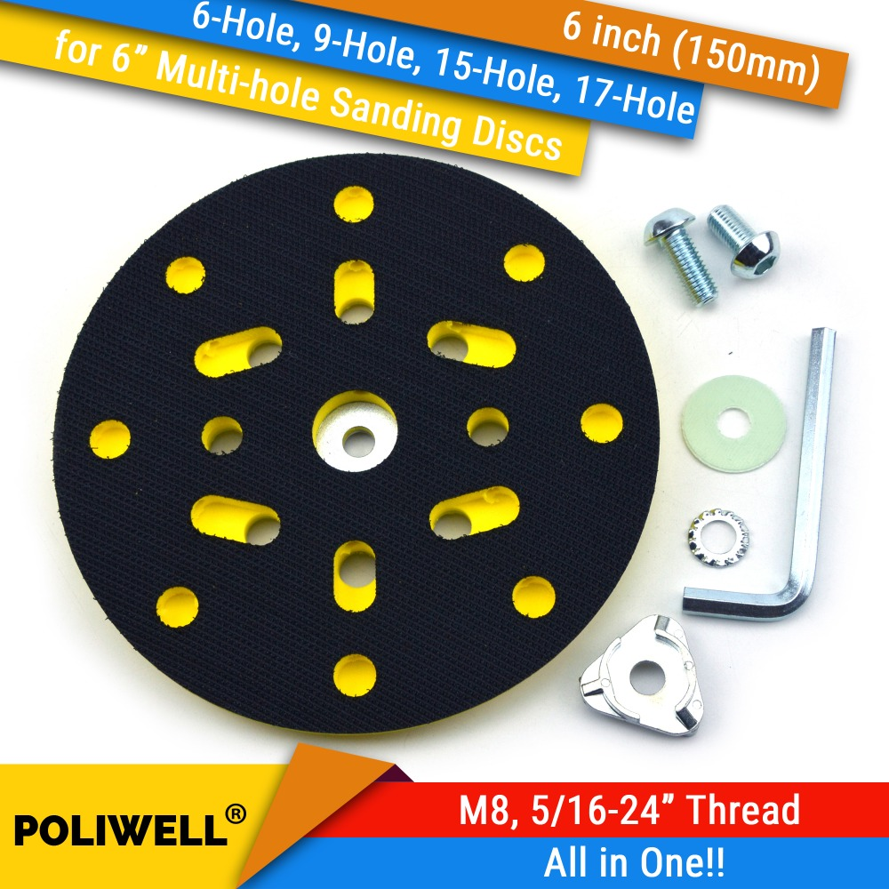 6 Inch(150mm) Multi-Hole All In One Dust-free M8 And 5/16-24