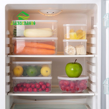 JiangChaoBo Soft Cover Transparent Storage Box Large Sealed Plastic Household Refrigerator Food