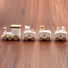 New Christmas Train Painted Wood Christmas Decoration for Home with Santa/bear Xmas kid toys gift ornament navidad new year Gift все цены
