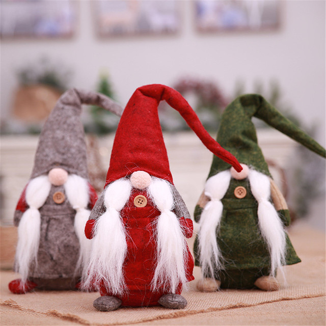 new 17 inches handmade christmas gnome swedish figurines holiday decoration gifts christmas decorations for home decorations