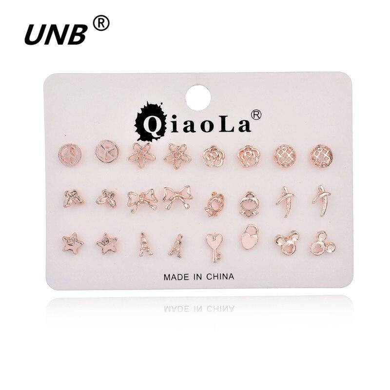 Tiny Earrings Small 2016 Cute 12 Pairs/Set Animal Stud Earrings Set For Women Fashion Jewelry Bohemian Men Earrings Studs CA0085