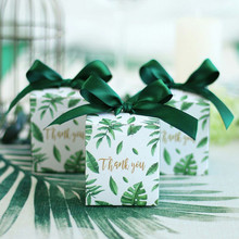 Sen Department Green Creative Square candy box wedding favor chocolate party supplies christmas gift baby shower