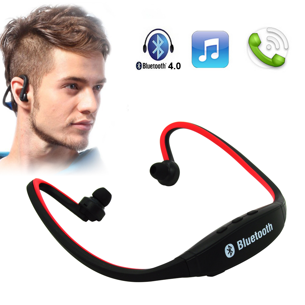 Original S9 Sport Wireless Handfree Earphone Bluetooth 4.0 With/Without TF Card Slot Noise Cancelling Headset For iPhone Xiaomi wireless bluetooth earphone headphones s9 sport earpiece headset with tf card slot 8g auriculares with micro for iphone android