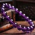 100%Uruguay natural amethyst bracelet fashion women sweet purple crystal bracelet jewelry gift Free shipping