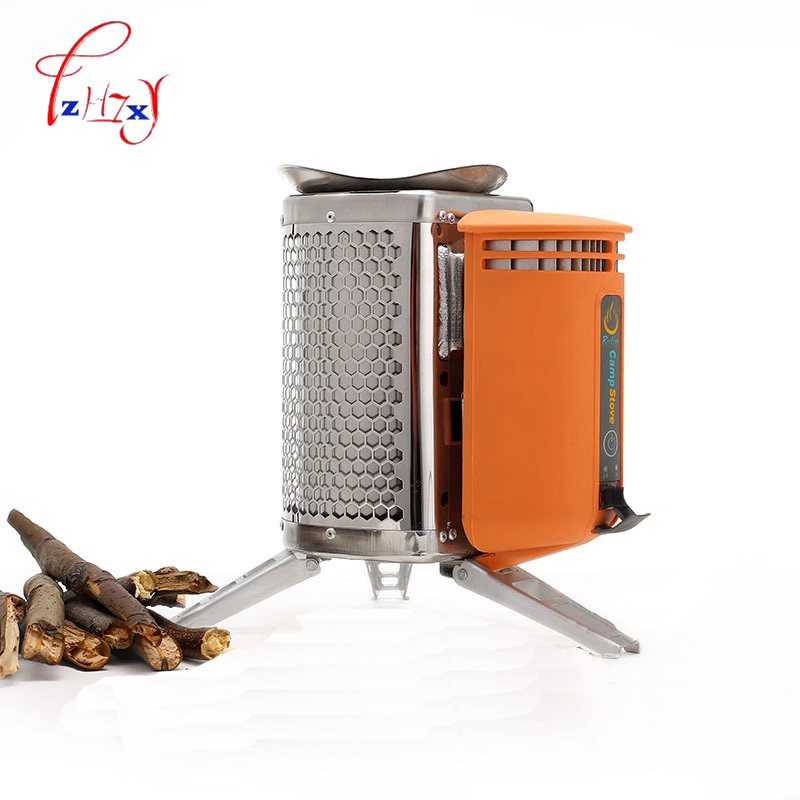 Stainless Steel CampStove Device For Wood Stove Outdoor Hiking Camping Backpack Picnic Kitchen Bbq 1pc