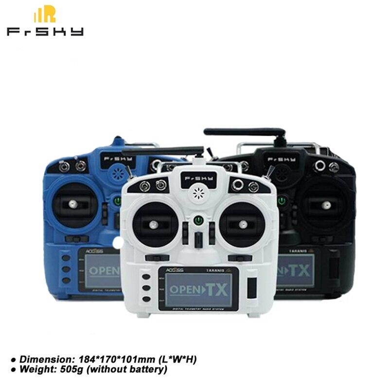 Integrado FrSky Taranis X9 Lite 2,4 GHz 24CH transmisor de control remoto por Radio para RC Drones Transmisor FrSky ACCST Taranis Q X7 QX7 de 2,4 GHz, 16 canales, color blanco/negro