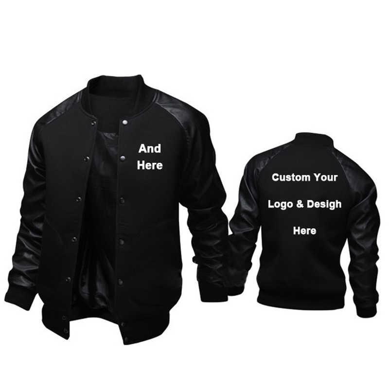Stylowe brytyjskie kurtki męskie własne Logo i wzornictwo męskie bluzy moda szczupła kurtka baseballowa płaszcz kostiumowy