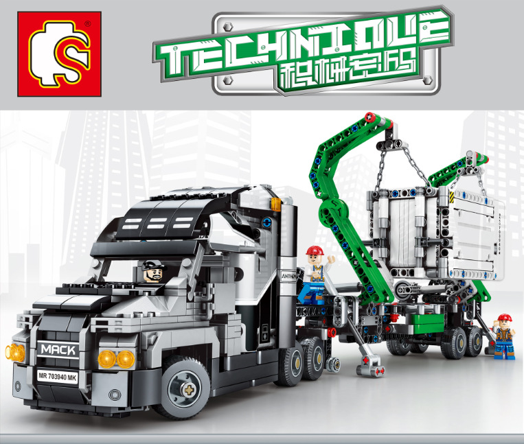 Mark Container Big Truck Racing Children's Educational Science Teaching Toys Compatible with Legoingly Technic Christmas Gifts 19pcs lovely ntersting soap making kit physical chemistry science educational toys for girls kids christmas gifts