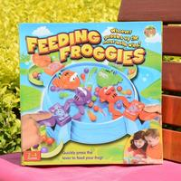 1pcs Feeding Frog Board Game Children's Parent child Interaction Kids Brain Action Early Childhood Educational Toys.
