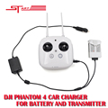 DJI Phantom 4 camera Drone Car Charger Intelligent Battery 17 5V 4A Outdoor Charging Accessories Parts
