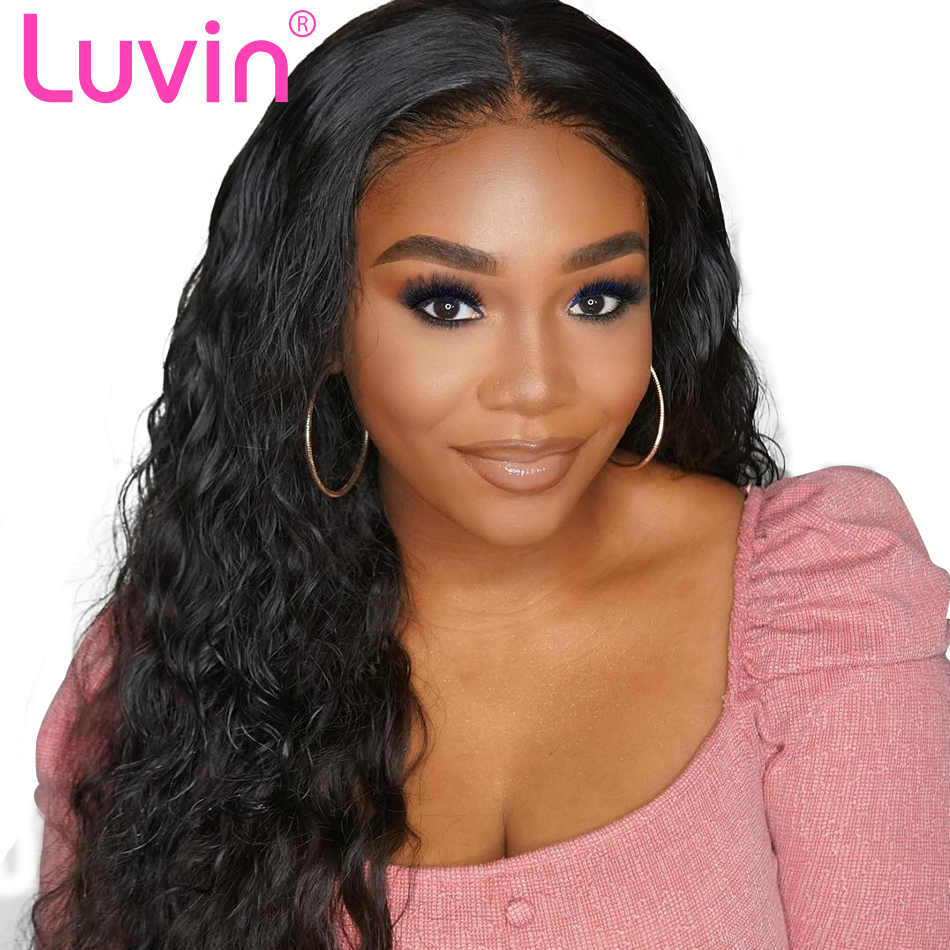 Luvin Hd Transparent Lace Front Human Hair Wigs Brazilian