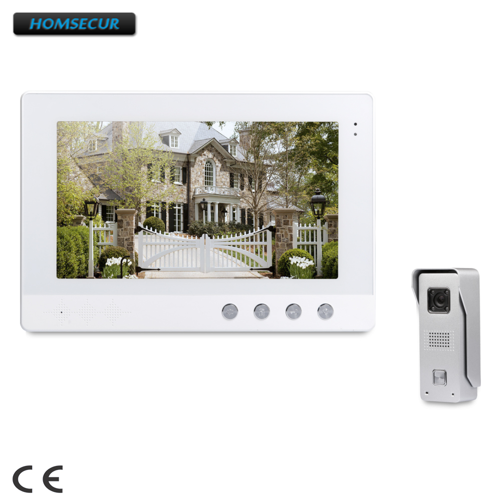 HOMSECUR 10.1inch Video Door Entry Security Intercom with Intra-monitor Audio Intercom  XC002+XM101-WHOMSECUR 10.1inch Video Door Entry Security Intercom with Intra-monitor Audio Intercom  XC002+XM101-W