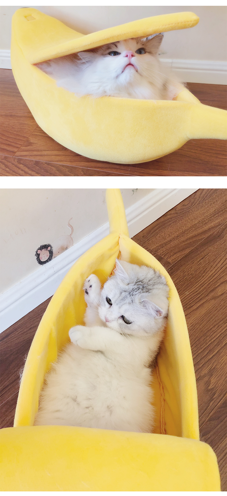 Banana Cat Bed