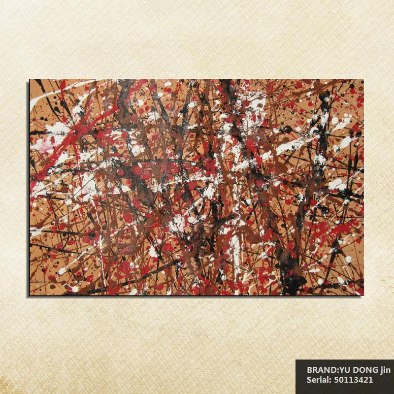 online get cheap art wire aliexpress com alibaba group jackson pollock still life abstract oil painting drawing art spray unframed canvas wire straw children action