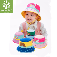 Kocotree New Summer Outdoor Baby Girl Animal Cotton Sun Cap Baby Hat Floral Pattern Beach Hats Boys Spring Caps Brim Sun Hat