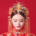 Vintage Chinese Traditional Wedding Hair Jewelry Adorn Hair Accessories Queen Hairpins Pageant Phoneix Coronet HAir Tiaras
