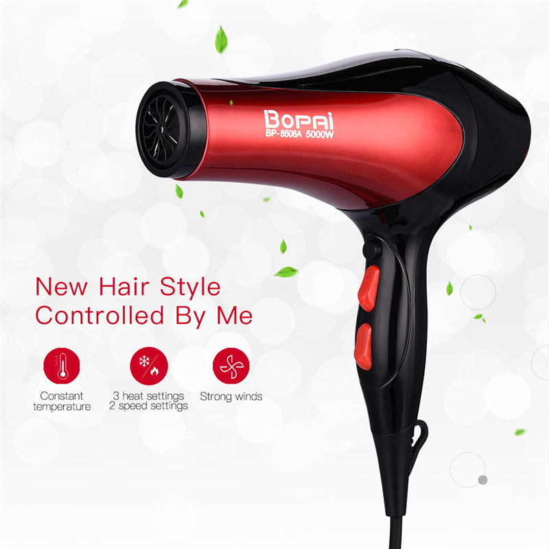 5000W Powerful Electric Hair Dryer Hot/Cold Air Temperature Adjust Blow Hairdryer Professional Salon Barber Hair Styling Tools цена 2017