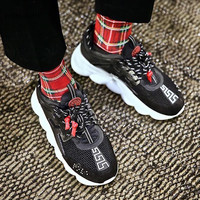 Multi Цвет из натуральной кожи со шнуровкой повседневная обувь Брендовая Дизайнерская обувь Новые 2018 zapatillas mujer тапки для Для женщин кроссовки