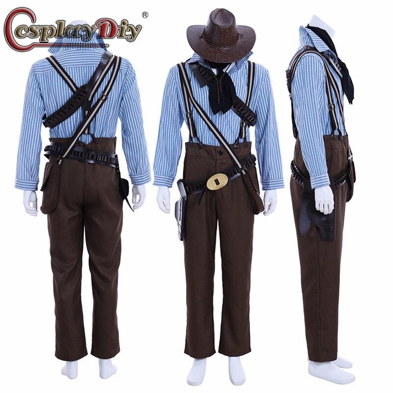 Косплей diy Red Dead: Redemption 2 Authur Morgan косплей костюм со шляпой полный комплект одежды Хэллоуин Карнавальный наряд на заказ