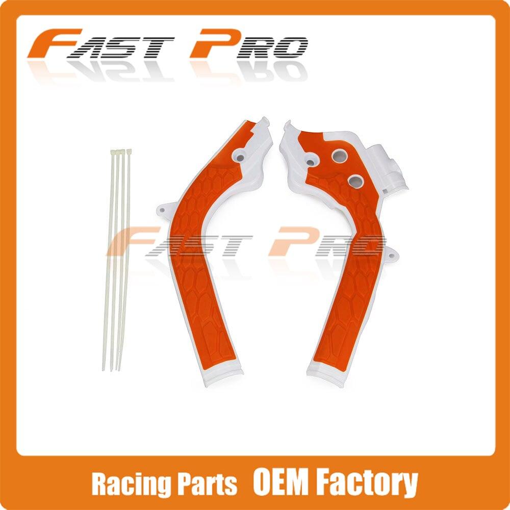 Kostenloser Versand Rahmen Schutz Abdeckung Für KTM SX125 SX250 SXF EXF 250 350 450 2016 2017 Dirt Bike MX Motocross motorrad FrameGuards
