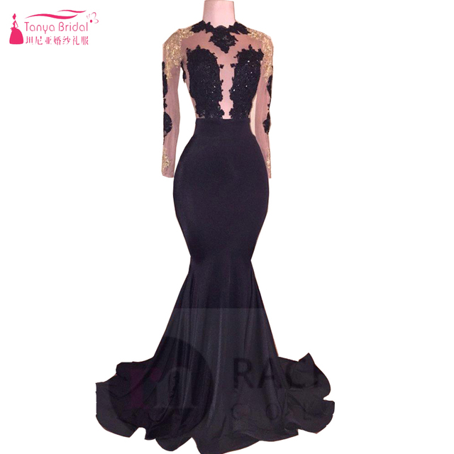 Aliexpress.com : Buy New African Black and Gold Mermaid Prom Dresses ...