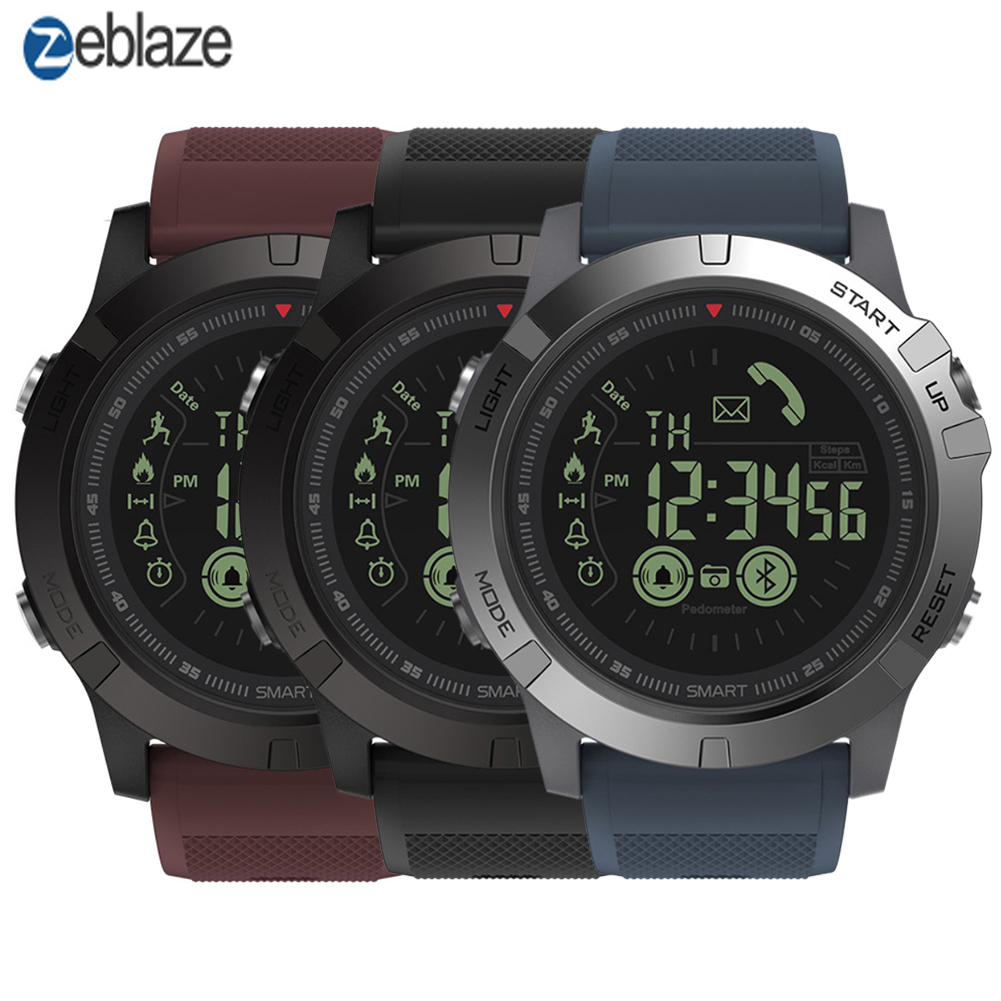 Zeblaze VIBE 3 3D IPS 3 Color Display Smartwatch IP67 Waterproof Heart Rate Monitor Sport Smart Watch Pk T1 Tact