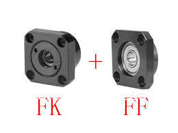 100 pairs/lot FK12/FF12 ball screw guide end supports Fixed side FK12 and Floated side FF12 3 pairs lot bk20 bf20 ball screw end supports fixed side bk20 and floated side bf20 match with scerw shaft