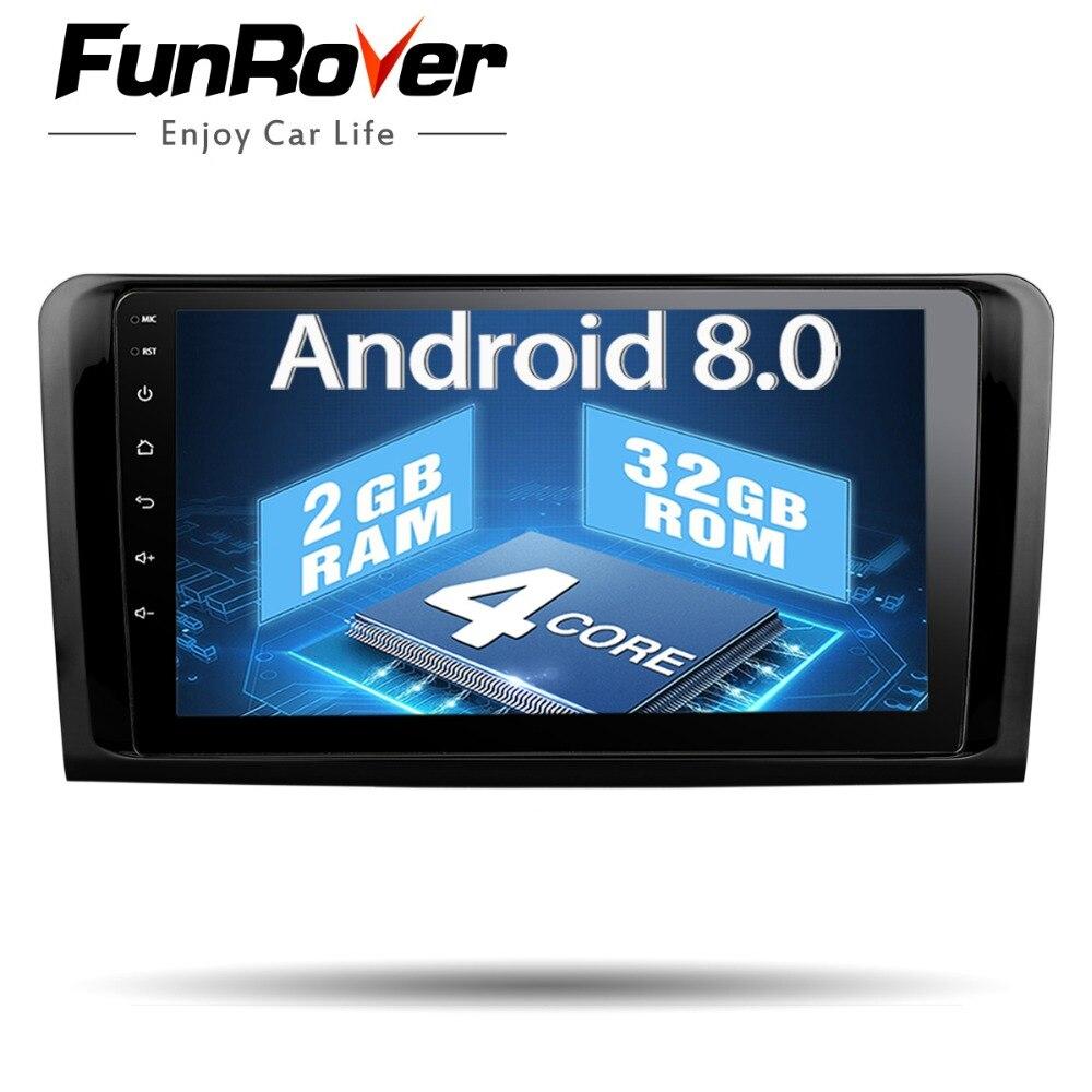 Funrover 2 din Voiture Lecteur Multimédia GPS Autoradio Pour Mercedes Benz W164 ML300 ML350 ML500 GL320 RDS wifi USB vidéo BT pas de DVD