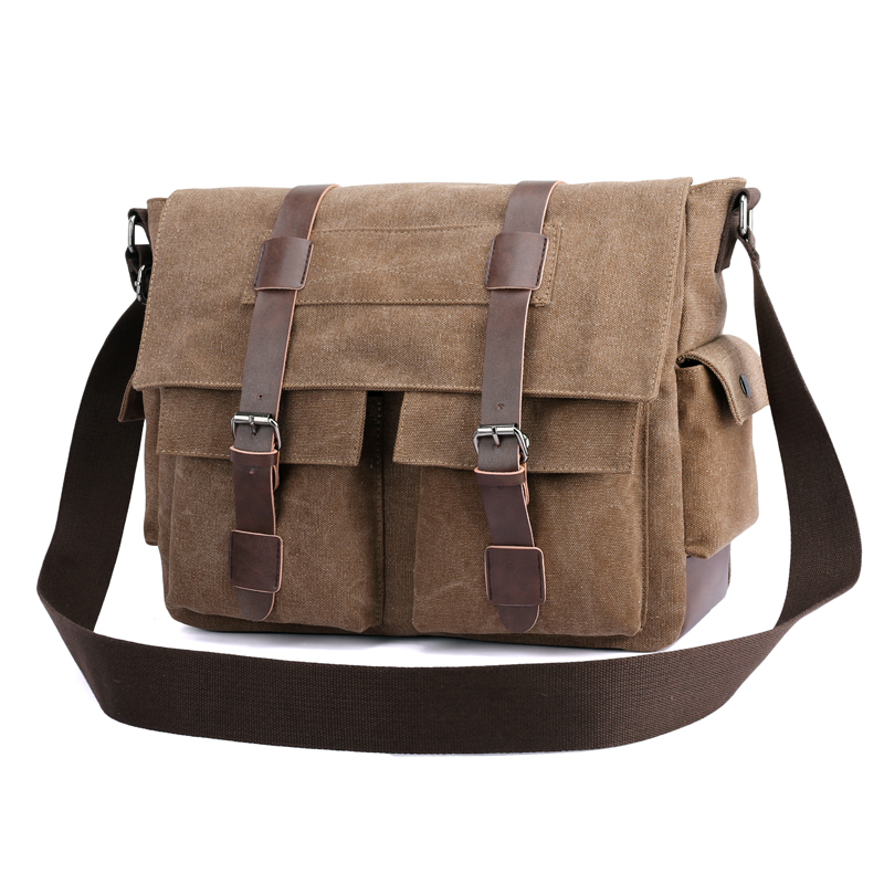 Fashion Men's Messenger Bags Large capacity Canvas Shoulder Bag Men Business Crossbody Bag Laptop Travel Handbag vintage canvas travel shoulder bag men messenger bags fashion cover crossbody bag large capacity male multi function laptop bags