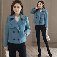 2019 New Women Autumn Woolen Jacket Female Short Cashmere Coat Women Coat Women Wool Coat