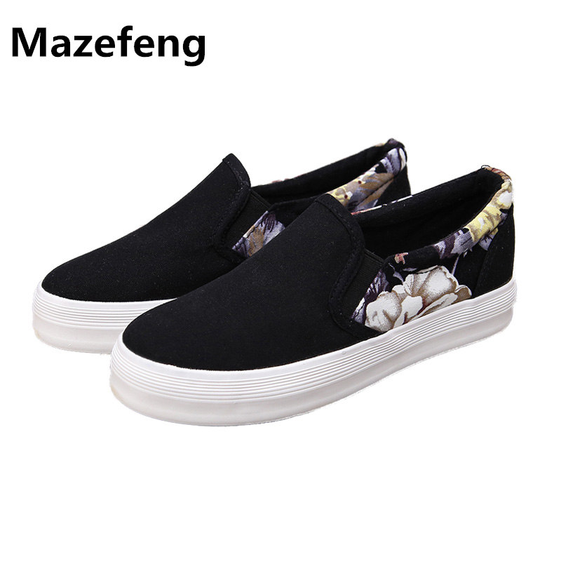 2017 New Spring Canvas Shoes Female Slip-On Flat Black All-Match Women Shoes Sapato Feminino Shoes Woman inov 8 сумка all terrain kitbag black