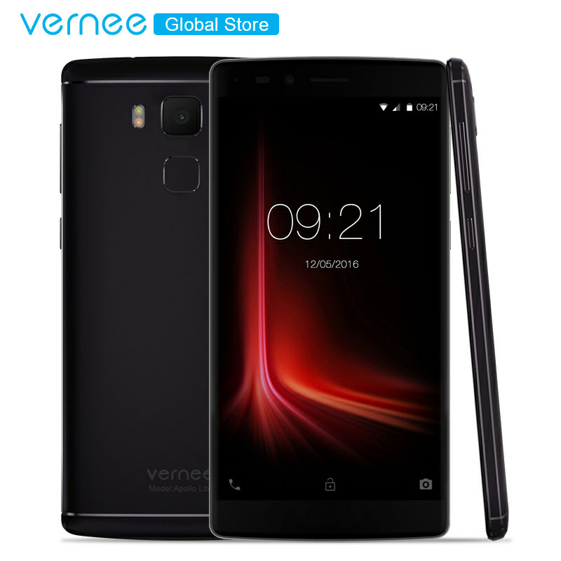 Vernee Apollo Lite 5.5inch 4GB RAM 32GB 4G MobilePhone MT6797 Deca Core 3180mAh Android6.0 OTG 16MP Camera Fingerprint Cellphone