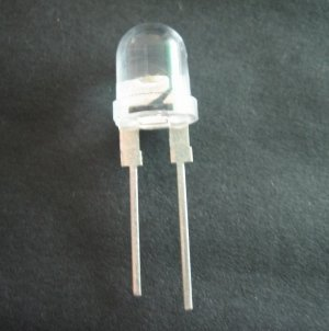 0.5W 8mm straw hat LED;20-30lm;120ma;120degree viewing angle,warm white/2700-3500K