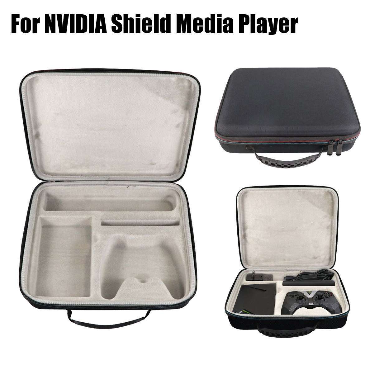 Protective Carrying Bag EVA Case For NVIDIA SHIELD TV Streaming Media Player Parts Accessories Toys for Children image