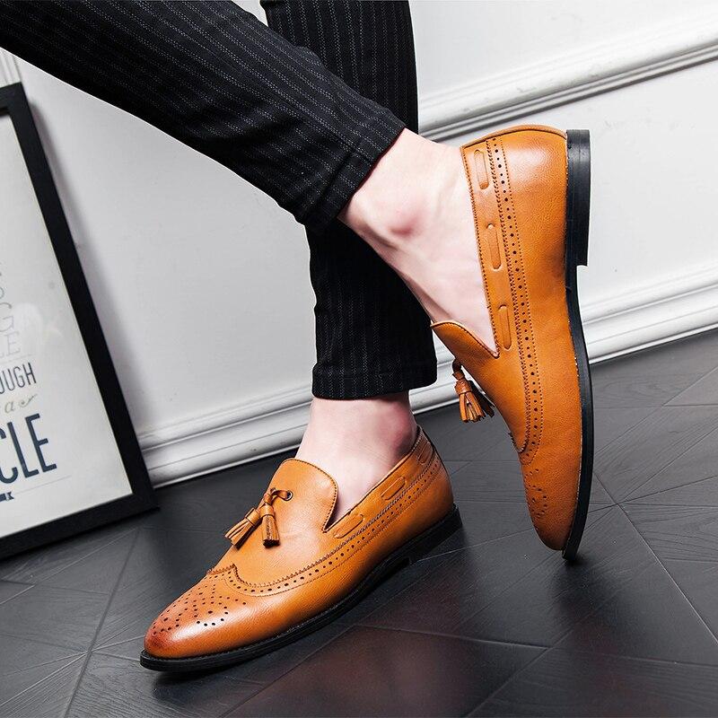 Zapato Casual de los hombres zapatos planos de cuero de la Pu zapatos de los hombres de la marca de lujo mocasines para hombre mocasines zapatos planos del barco de los hombres zapato Plus tamaño 46 47