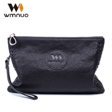 Фотография wmnuo men handbags genuine leather envelope sheepskin soft leather men bags fashion day clutches the new simple casual tote