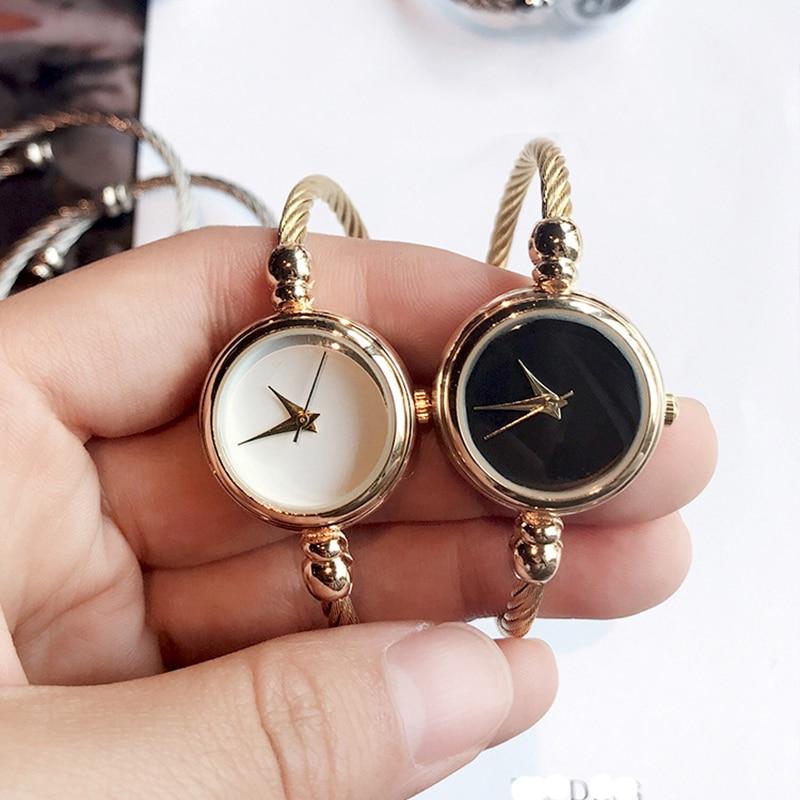 New Women's Fashion Bracelet Watches Minimalist Stylish Bangle Strap Women Quartz Watch 2018 BGG Brand Simple Gold Female Clock