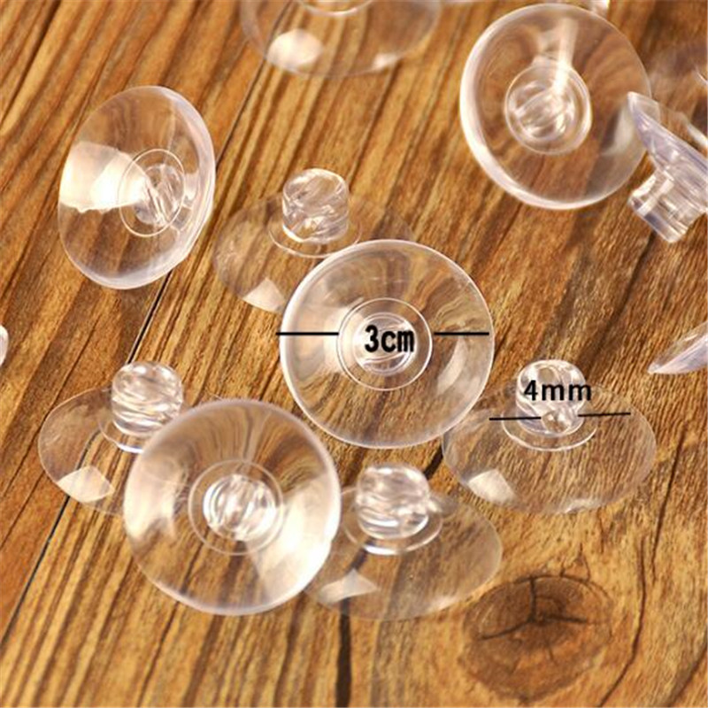 50pcs 3cm Plastic Clear Sucker Gass Gasket for Wedding Car Butterfly Decoration